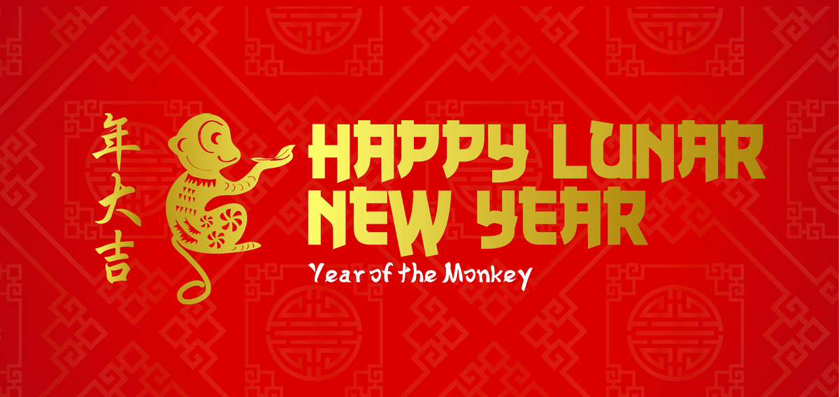 happy lunar new year welcome to the year of the monkey - Happy Lunar New Year In Chinese