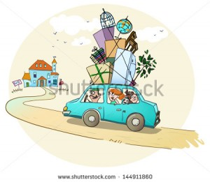 stock-vector-moving-in-a-new-home-happy-family-is-on-the-way-to-a-new-house-144911860